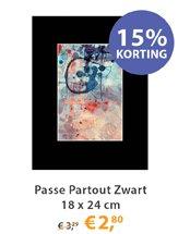 Passe Partout Zwart 18x24cm