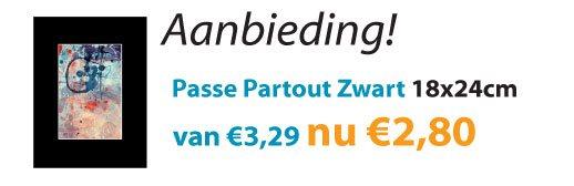 Passe Partout Zwart 18x24cm aanbieding