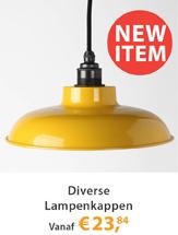 Diverse nieuwe lampenkappen