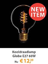 Kooldraadlamp Globe E27 60W