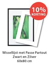 Passe Partout met wissellijst 60x80cm